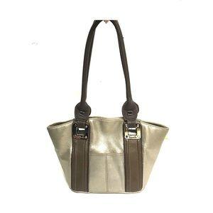 Tignanello gold leather  satchel